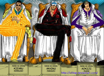 The 3 admirals (One Piece)