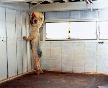Item #: SCP-173 Object class: Euclid Special Containment Procedures: Item SCP-173 is to be kept in a locked container at all times. When personnel must enter SCP-173's container, no fewer than 3 may enter at any time and the door is to be relocked behind them. At all times, two persons must maintain direct eye contact with SCP-173 until all personnel have vacated and relocked the container. Description: Moved to Site19 1993. Origin is as of yet unknown. It is constructed from concrete and rebar with traces of Krylon brand spray paint. SCP-173 is animate and extremely hostile. The object cannot Переместить while within a direct line of sight. Line of sight must not be broken at any time with SCP-173. Personnel assigned to enter container are instructed to alert one another before blinking. Object is reported to attack by snapping the neck at the base of the skull, или by strangulation. In the event of an attack, personnel are to observe Class 4 hazardous object containment procedures. Personnel Сообщить sounds of scraping stone originating from within the container when no one is present inside. This is considered normal, and any change in this behaviour should be reported to the Актёрское искусство HMCL supervisor on duty. The reddish brown substance on the floor is a combination of feces and blood. Origin of these materials is unknown. The enclosure must be cleaned on a bi-weekly basis.