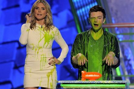 Chris Colfer and Heidi Klum!!! (slimed)