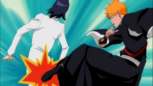 hahaha! Great question! And it was a really difficult choice for me, because in Bleach there are tons and tons of ultra hilarious moments! But this time I'm going with this one, from episode 363. Ichigo and Uryū!!!! SO FUNNY!!!! Those two are always making me die of laughter!