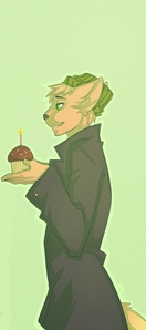 Its a cat giving a bunny a cupcake :3 Sorrows has the other half of the image as his icon ^w^ ~('v' ~)