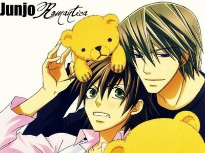 From my very favorit yaoi Anime: Junjo Romantica! :D Couple shown:UsagiXMisaki :)