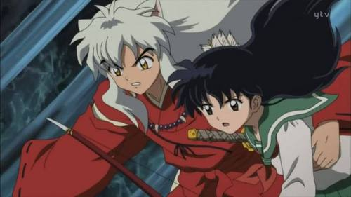 이누야사 and Kagome from Inuyasha.