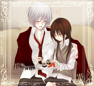 Yuki and Zero from vampire knight