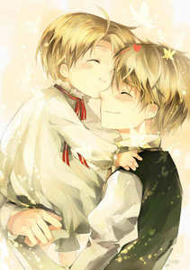 UsUk from Hetalia 1. Their relationship is only family 2. I can NOT see them being romantic with each other 3. I can hardly see America in a relationship with anyone, he's to childish and selfish 4. England tried to kill him like....5 times 5. Anytime they're in a scene together I see no chemistry 6. America LEFT England, why would he go back to him in a romantic way 7. They're much better as just a family