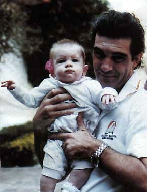 Antonio Banderas and his daughter Stella.