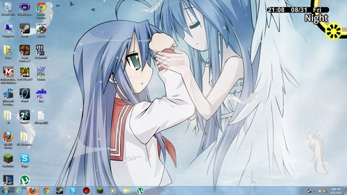 I still haven't changed the picture from Kona-chan and Kanata. :P