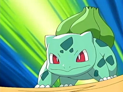 i paused and a bulbasaur showed up:D