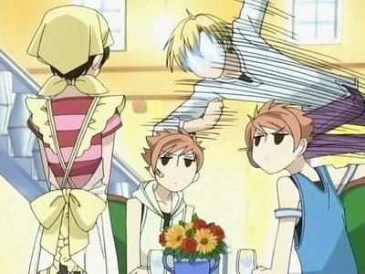 - TIE! Haruhi Suzumiya and Tamaki Suoh (OHSHC), - Kyon (Haruhi Suzumiya) - Tie, Hitachinn twins (OHSHC), - Tie, Yuki Nagato (Haruhi Suzumiya) and Every remained OHSHC character, - Takumi Usui (Kaichou wa Maid sama!) and Houtarou Oreki (Hyouka) <3