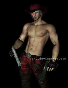 a werewolf but i want dante sparda from devil may cry to be my cowboy
