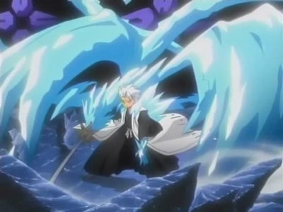 Toshiro Hitsugaya from bleach i absolutely upendo his bankai and hes cuteness of being short XD