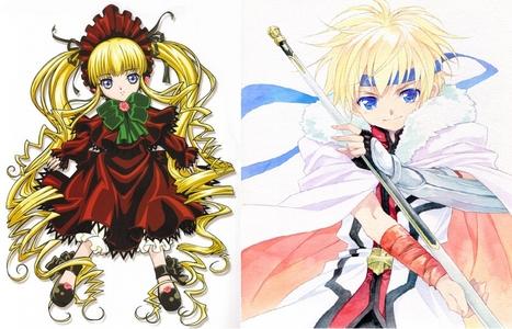 Shinku Izumi- Dog Days (right) Shinku- Rozen Maiden (Left)