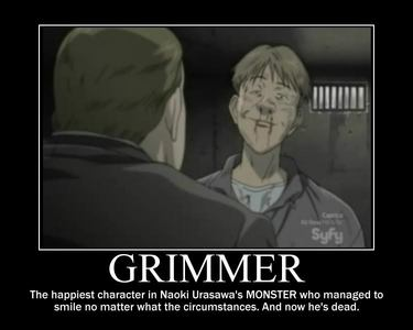 Poor Mr. Grimmer. He was an awesome character. Luckily, he didn't die so soon. Only on the last episode. ;_;