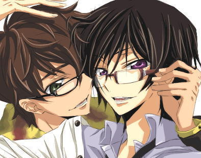Just to be safe, I'll post my third OTP :) I don't usually mention it, but it's Suzaku and Lelouch from Code Geass. I think they make up for each other's down sides ^^ I also like them as friends. They're wonderful characters, IMHO.