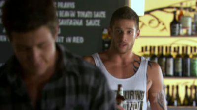 Daniel Ewing as Heath trying to calm down Brax.