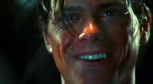 Matthew sweating like a pig, while smiling. <33