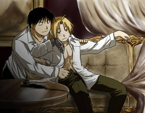 Roy and Ed are the cutest anime couple in Fullmetal Alchemist. <3