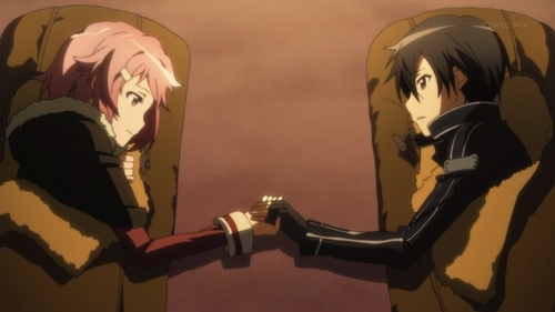 I prefer Kirito with Asuna, but i think this pair is cute too~