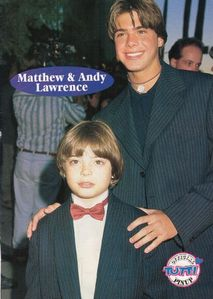Matthew and his younger brother, Andy both in suits. <33
