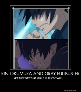Gray from fairy tail, and rin from blue exorcist.