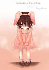 Kaname in a dress and a cute bunny ears! :3