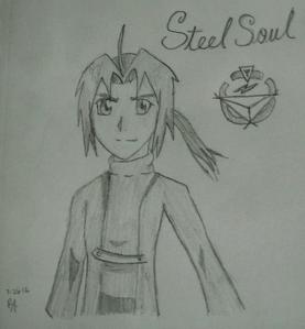 It needs improvement, but my FMA OC, Negima Kain ^_^ aka the Steel Soul Alchemist ;)
