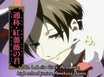 There's Benio-san from Ouran High School Host Club.
