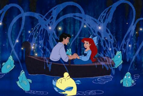 I think the scene with ariel and eric in the নৌকা comes pretty close:)
