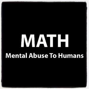 i hate math :l