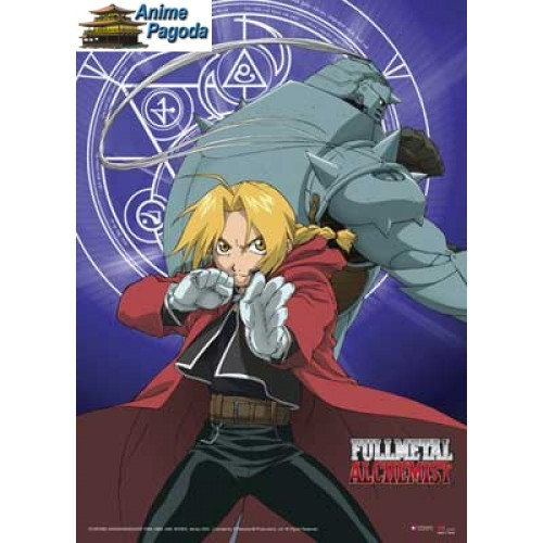 No, but I have a wallscroll of Ed and Al from Fullmetal Alchemist.