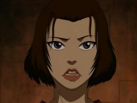 "Hard choice... but if any of the main characters.. Suki. I like her okay in some scenes, one being when she saved Toph. But for the most part she really gets on my nerves. -I found her feminist attitude really, [i]really[/i] forceful- I'm all for women's rights, but I don't like it when people are absolute jerks about it. -She's cheesy; ""oh Sokka, I [i]knew[/i] you'd come."" What happened to that strong non-needy feminism? -Her Mary Sue-ness. She's displayed as nearly perfect with no mentioned flaws; perfect fighting skills, perfect with others, etc. etc. -Her lack of real purpose. I know she's the leader of the Kyoshi Warriors and Sokka's প্রণয় interest- but that's about it. There just wasn't much there for her. It's just not enough for me. That's all I can think of. She just bugs me, a lot. While I don't [i]hate[/i] her, I have a difficult time liking her."