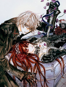 This is Yuki and Zero from Vampire Knight!