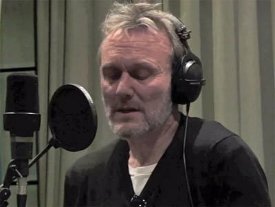 scruffy Tony recording a charity song