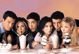 Friends!! The guys are all cute, Matthew Perry, David Schwimmer and Matt LeBlanc. <33