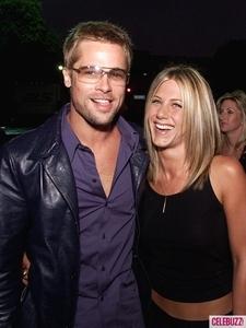 Brad Pitt with his ex, Jennifer Aniston.