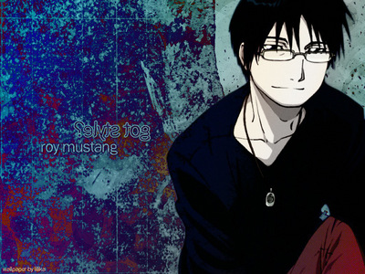 """Roy Mustang. I dunno. When I first heard his name, I thought, """"I bet this mofo means business!"""" I'm not his biggest fan, but I do amor this pic of him."""