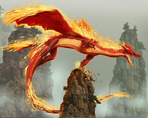 this cool pic of a आग Dragon