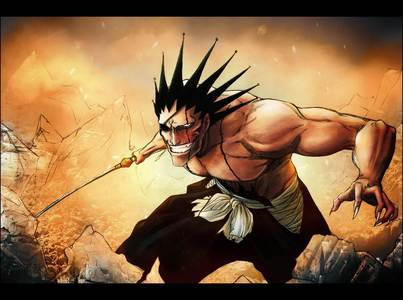 Kenpachi has a pretty crazy hair style (or used to) he even fixed it himself, spikes with bells on the tips.