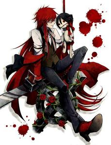 Grell from black butler and his un-dying Любовь for sebastian