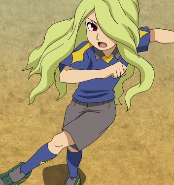 Hinano from Inazuma Eleven GO . . . . *looks back at question*.......oh wait.....you said girl....then [b]he[/b] doesn't count then....