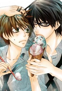 Takano is eating ice cream! ;D And it's mint! :D