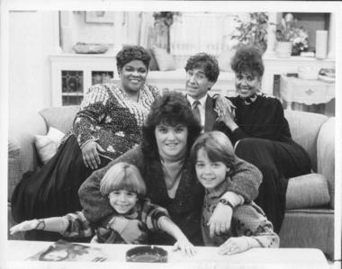 """Matthew and Joey with Rosie O'Donnell and Neil Carter. Joey and Matthew in the 80's दिखाना """"Gimme a Break!""""."""
