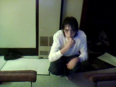Me as 엘 from Deathnote. I need hair gel badly for the spikey look, but anywho, I'm probably gonna be him for 할로윈