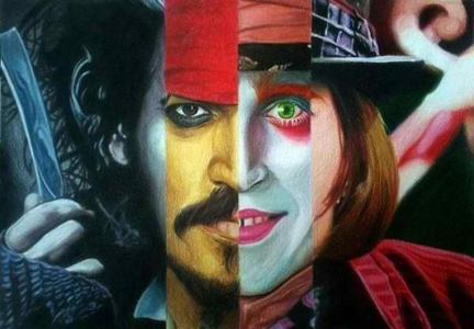Johnny Depp. He looks different for sure!
