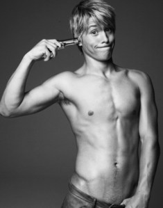 Mitch hewer putting himself at gun point :P Couldnt get Dan Ewing sorry.