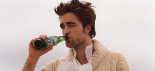 Here is mine...it's Robert Pattinson.He is drinking beer.