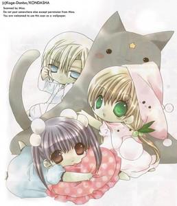Karin, Kazune, and Himeka from Kamichama Karin