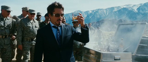 as Tony Stark with his allways loved scotch!