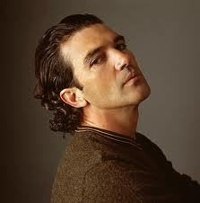 Banderas with slicked hair