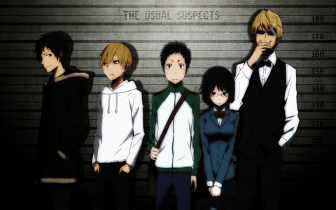 Here are some Anime's I love; <b>Durarara!!</b> Mikado Ryugamine just want's a normal life. When his childhood friend Kida Masaomi invites him to live in Ikebukoro, Mikado decides it's an offer he can't refuse. When Mikado arrives in Ikebukoro, he finds out that nothing is what it seems. <b>InuYasha</b> Enter Feudal Japan. A time of demons, monsters, and Mysteries. When Kagome, a modern-day highschool student, is pulled into Japan's ancient past, she finds out that her destiny is linked to a dog-eared half demon named InuYasha. Together, they batter evil demons who seek to acquire the legendary shards of the Shikon Jewel. Can InuYasha and Kagome save the world before time runs out? <b>Panty and 긴 양말, 스타킹 With Garterbelt</b> Meet Panty and 긴 양말, 스타킹 Anarchy. They look great and have everything they could ever ask for. So what if they get kicked out of Heaven right? These 앤젤 sisters need to fight demons to collect Heaven coins. If they collect enough coins, they get accepted back into Heaven. Sounds easy, right? <b>Bakuman</b> Average student Moritaka Mashiro enjoys drawing for fun. When his classmate and aspiring writer Akito Takagi discovers his talent, he begs Moritaka to team up with him as a manga-creating duo. But what exactly does it take to make it in the manga-publishing world? <b>Ranma 1/2</b> Ranma Saotome has been living in fear for years. When Ranma touches cold water he magically changes into a girl! This doesn't sound that bad right? But when he touches hot water, he turns back into a boy. At the same time, He is forced to marry Akane Tendo, the girl who absolutely hates him. With Ranma trying to turn back time and change the curse back to normal and Akane beating up on him, life can't be that hard. Think again;